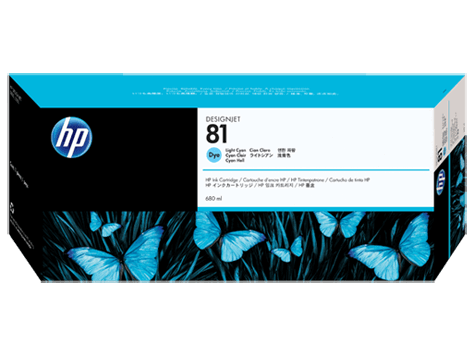 HP 81 Light Cyan (680ml)