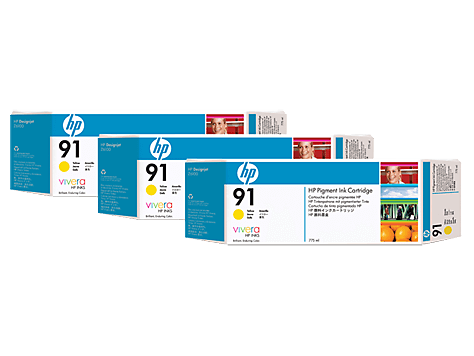 HP 91 Yellow 3-pack 775 ml (C9485A)