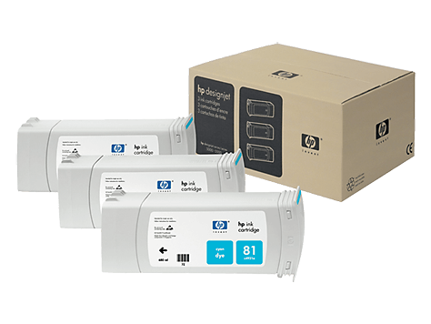 HP 81 Cyan 3-pack 680-ml