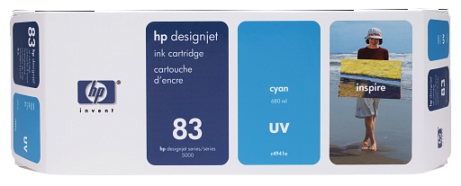 HP 83 Cyan UV 680 ml (C4941A)