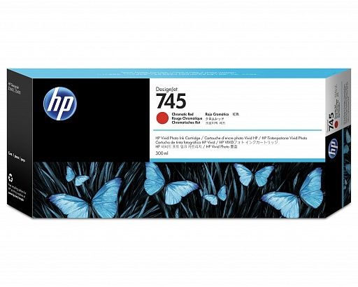 HP 745 Chromatic Red 300 ml (F9K06A)