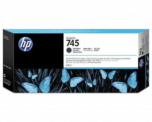 HP 745 Matte Black 300 ml (F9K05A)