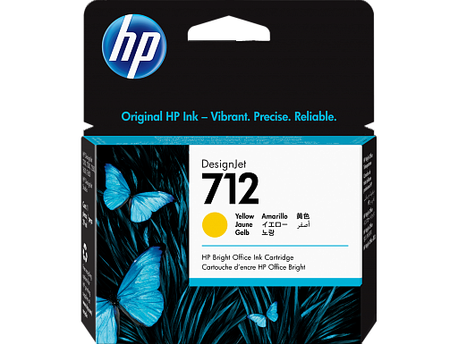 HP 712 Yellow 29 ml