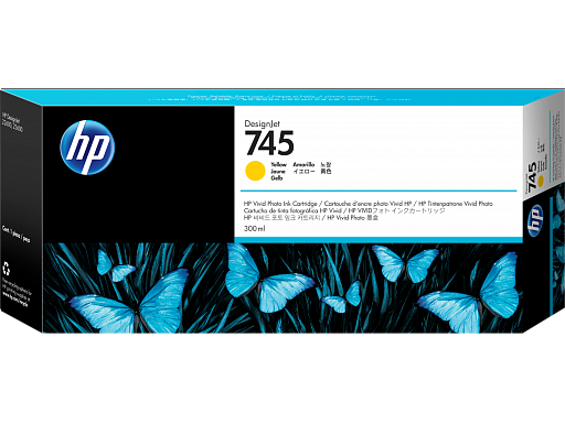 HP 745 Yellow 300 ml (F9K02A)