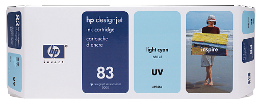HP 83 Light Cyan UV 680 ml (C4944A)