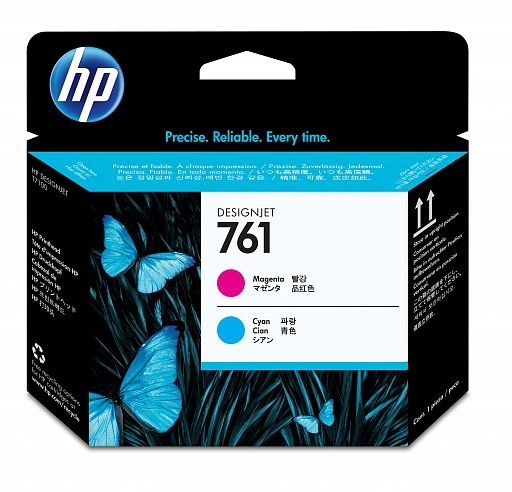 HP 761 Magenta and Cyan Printhead (CH646A)