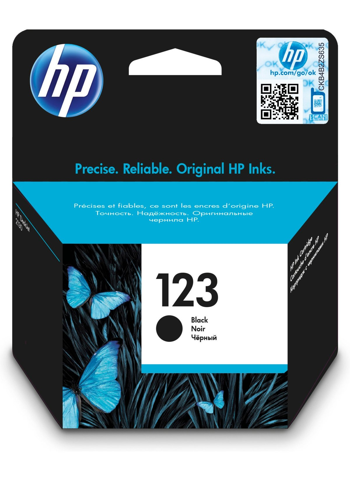 HP 123 black (F6V17AE)