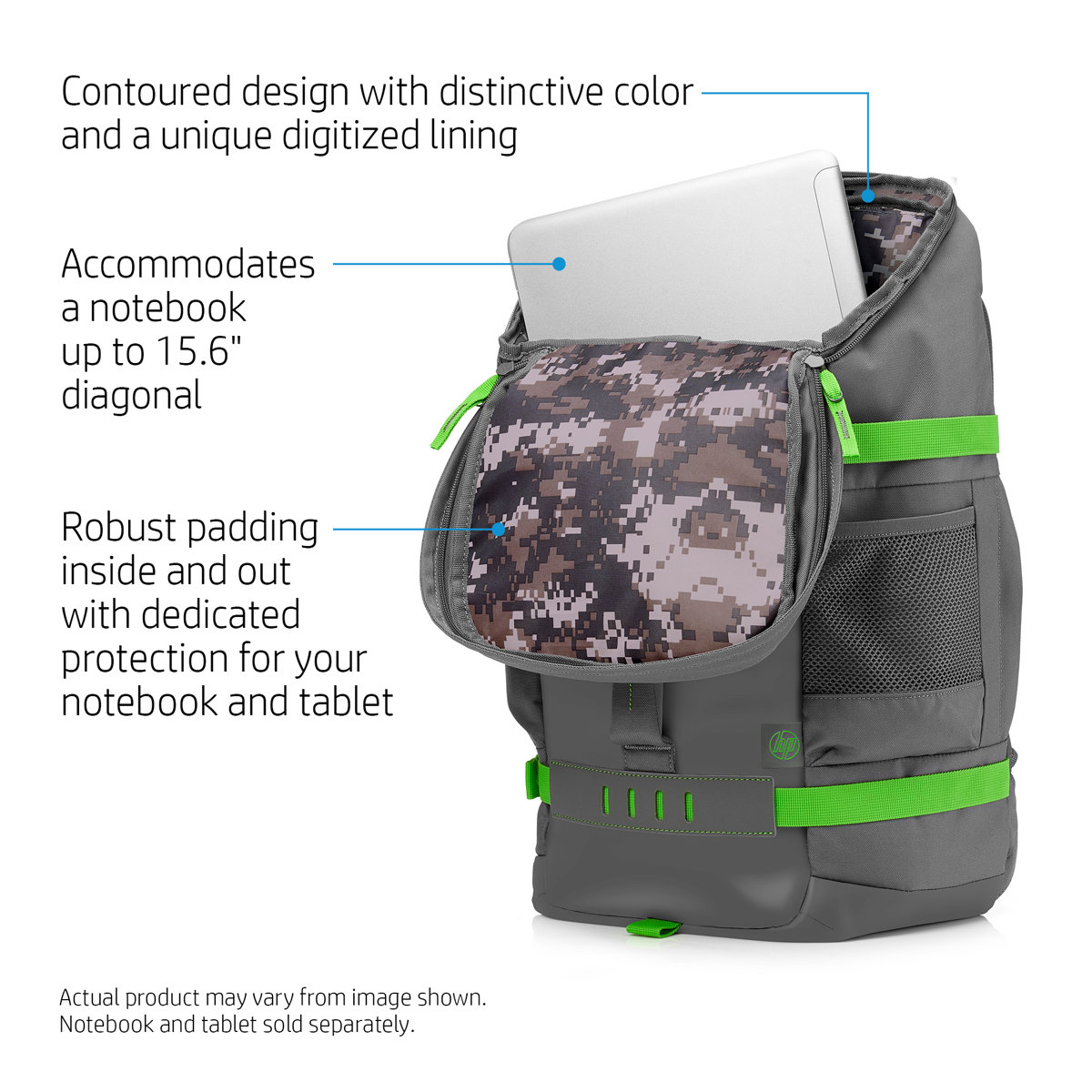 HP 15.6 Grey Odyssey Backpack